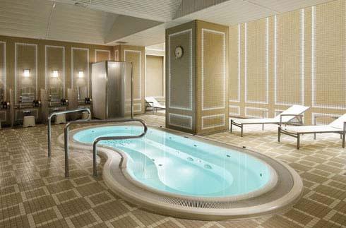Sauna, Whirlpool bath and Lounge