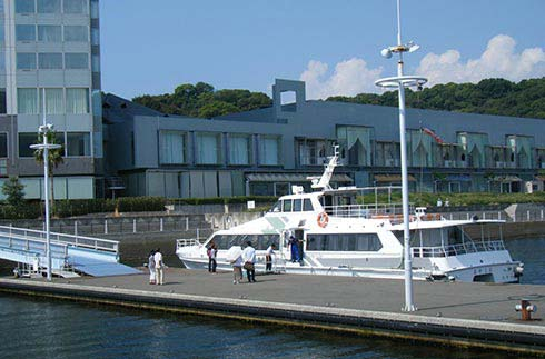 Pier in front of the Hotel