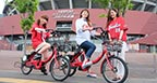 "About Hiroshima city sightseeing bicycle rental cycle ""Peacecle"""