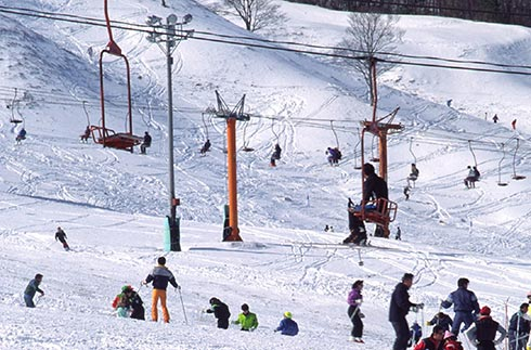Ski slopes in northern Hiroshima prefecture