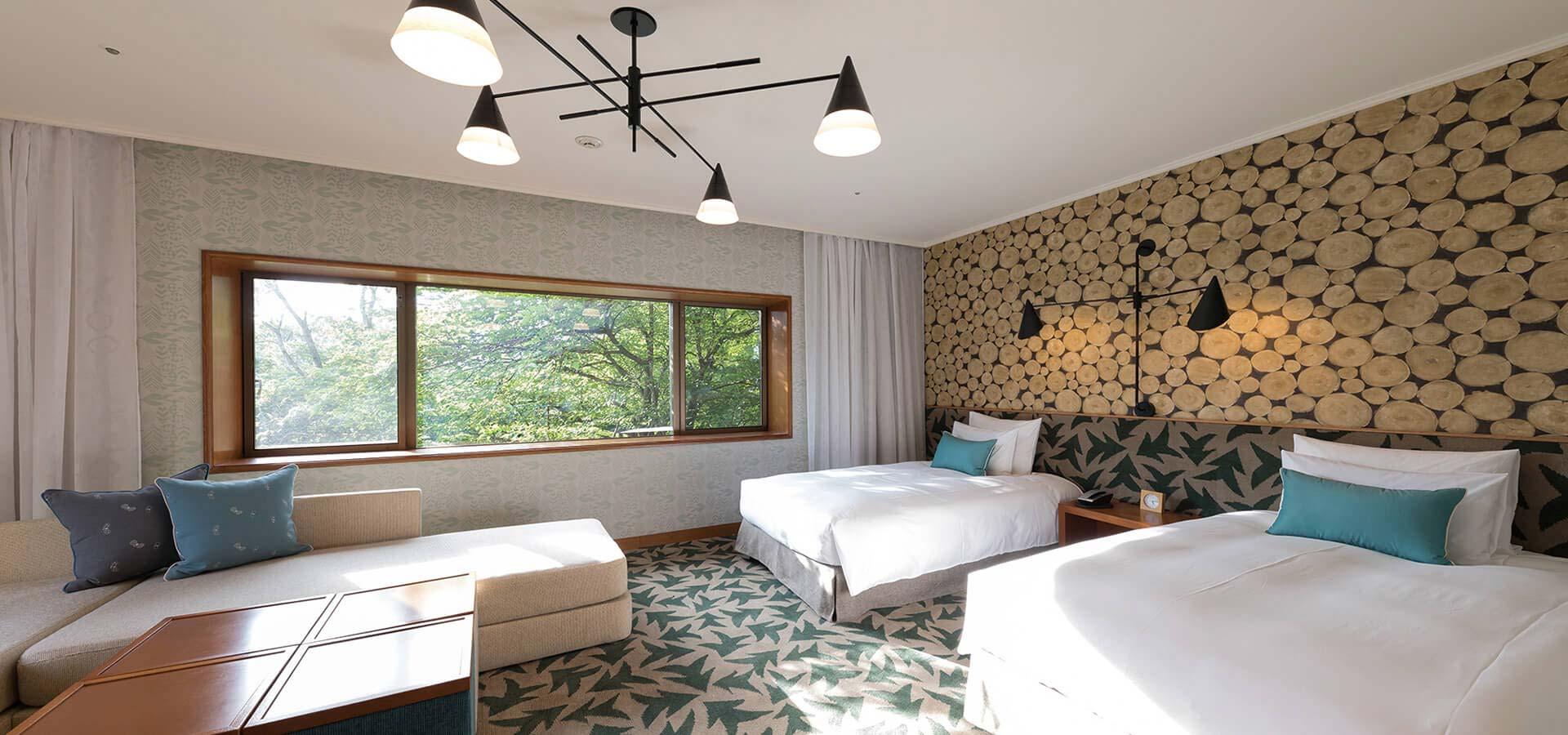 森林景隅雙床房