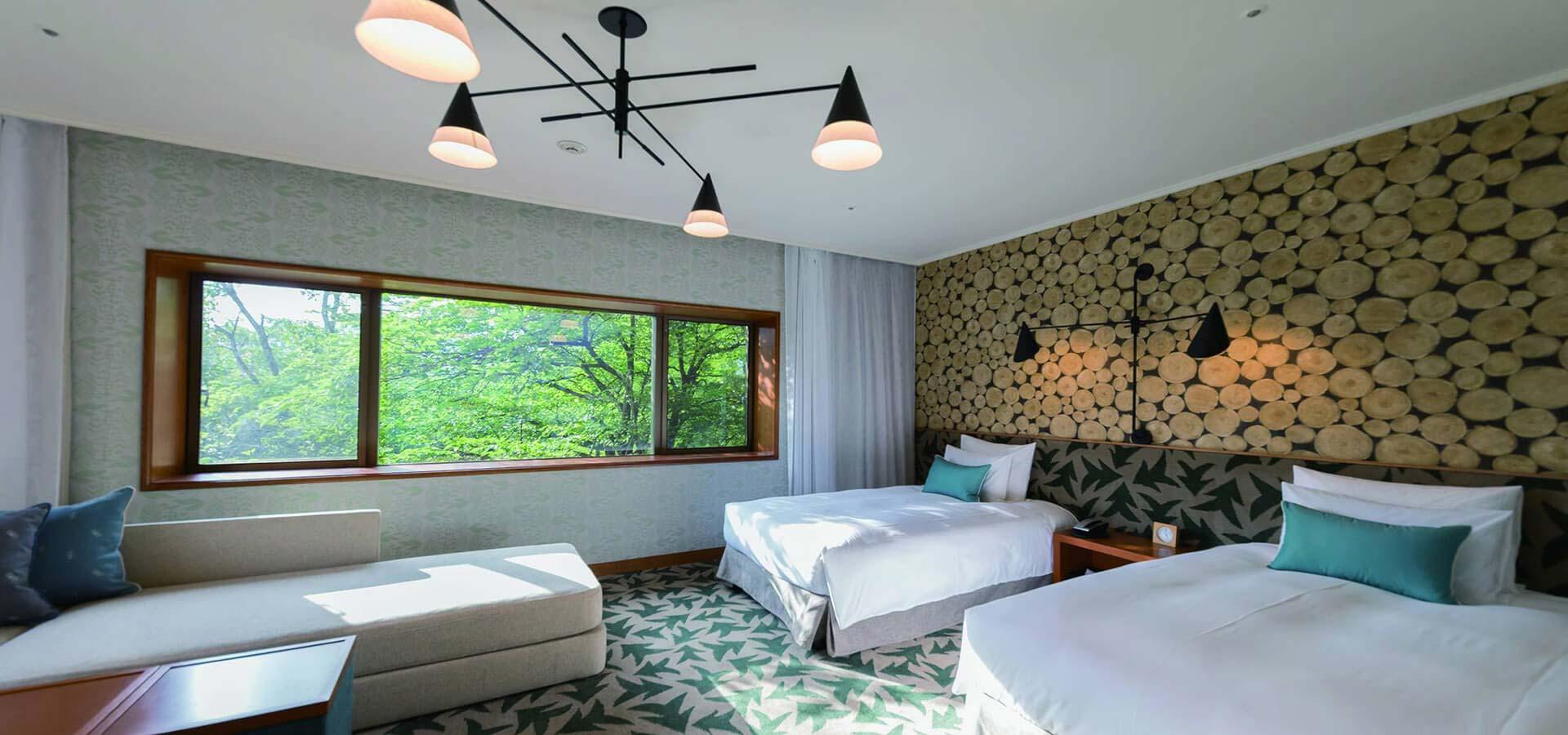 森林景隅双床房