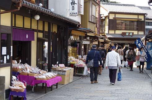 Kashiya Yokocho (sweets store alley)