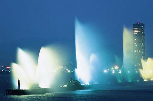 枇杷湖花型喷泉