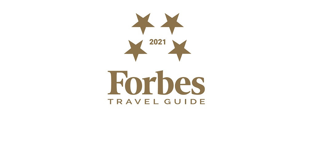 """""""Forbes Travel Guide 2021"""" Awarded 4 stars 2 years in a row"""