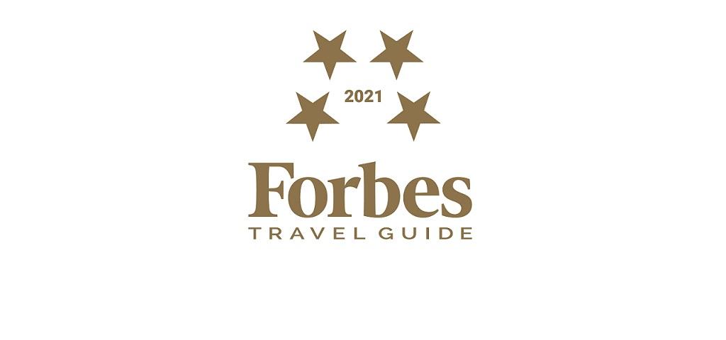 荣获2021年富比士旅游指南四星级评等,连续2年蝉联四星级认证