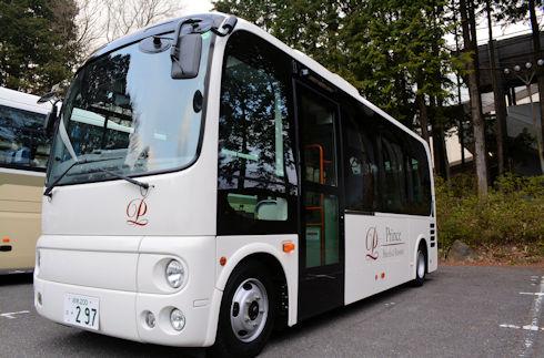 Free circulation bus between Hotel and Moto-Hakone