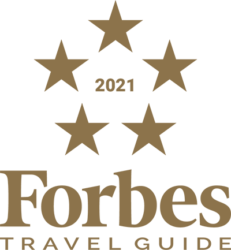 Named a Five-Star hotel by Forbes Travel Guide 2021