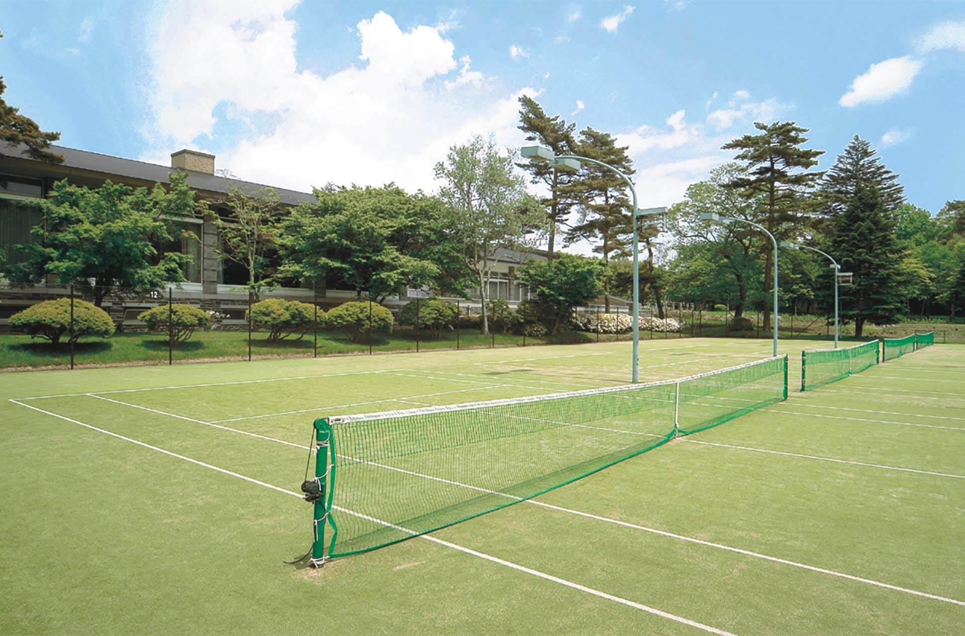 An exclusive Tennis Court